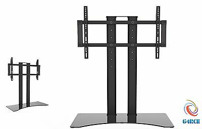 "LED/LCD/Plasma/Curved Black Glass TV Stand with TV Mount 37-65"" For Samsung Sony"