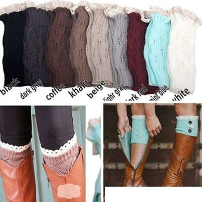 Womens Winter Crochet Boot Cuffs NEW Knit Toppers Boot Socks Leg Warmers