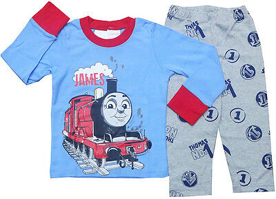 New Size 2-8 Kids Boys Girls  Winter Slim Pyjamas Thomas Sleepwear Cotton Pjs