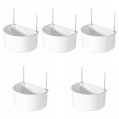 5 X 7.5cm Robust Plastic Cage Feeder Cup Drinker D Cup Chicken /Rabbits /Birds