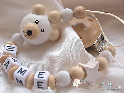 Personalised Dummy Clip. Wooden Clip. Baby holder, Baby gift & Baby shower