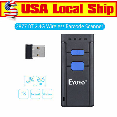 Mini Portable Laser Wireless Bluetooth Barcode Scanner Reader Fr IOS Android USA