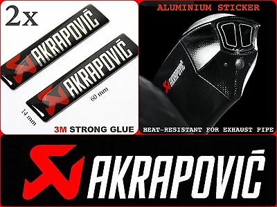 AKRAPOVIC STICKER Exhaust Pipe Labels Motorcycle Badge Emblem Logo Decal 60x14mm
