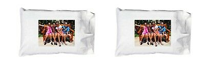 New Custom Personalized Photo Logo-SET OF TWO 100% EGYPTIAN Cotton Pillow Cases