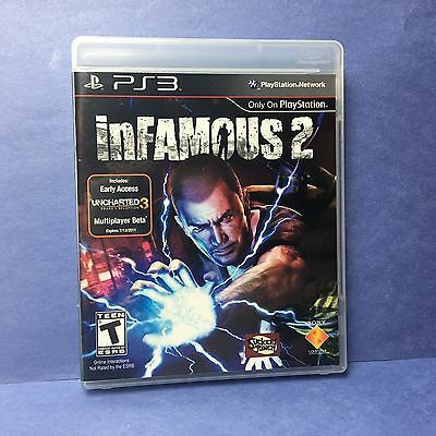 inFamous 2 (Sony PlayStation 3 PS3/2011) Sucker Punch/CHOOSE GOOD OR EVIL/GREAT!