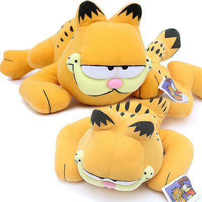 """Garfield Plush Doll Figure -16"""" Large Tummy Down Pose  Licensed  Suffed Toy"""