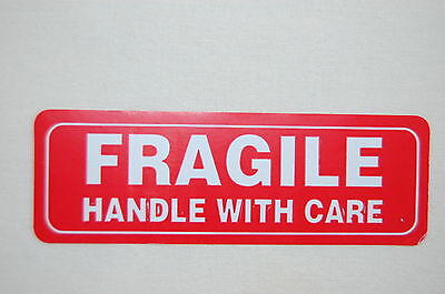 250 1X3 FRAGILE Sticker Handle With Care Fragile Label/Sticker USPS UPS Fedex