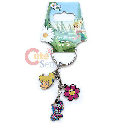 Disney TinkerBell Key Chain 3 Pendent  Metal Tinker Bell Flower Auto Accessory
