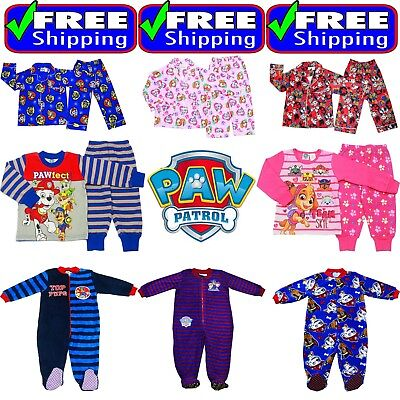 New 1-12 Kids Boys Winter Fleece Paw Patrol Pyjamas Sleepwear Cotton Flannelette