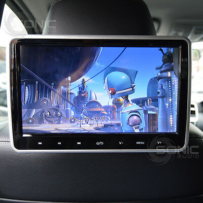 "Universal Clip-On Car DVD/SD/USB/HDMI 10.1"" HD Headrest Screen Monitor Tablet"