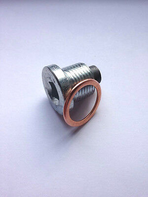 Magnetic Oil Pan Drain Sump Plug M18x1.5mm + Folded Copper Washer - PN003(MAG)