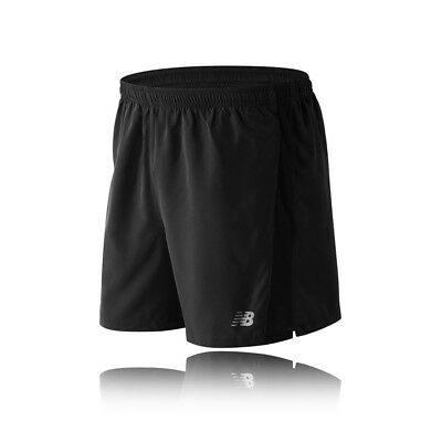 "New Balance Accelerate 5"" Hombre Negro Deporte Running Shorts Pantalones Cortos"