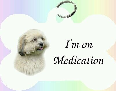 Llhasa Apso Dog Puppy Dble Sided Personalised Pet ID Tag - M by paws2print