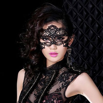 Black Lace Masquerade Mask Venetian Mardi Gras Party Romance Halloween party