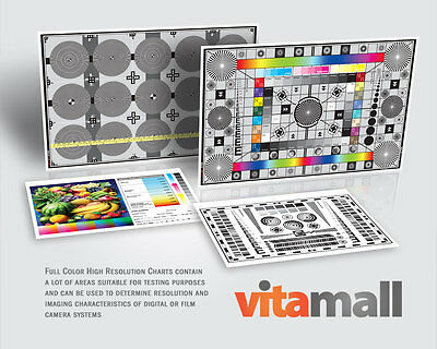 Complete Set of High Resolution Test Charts for Lens & Camera by Vitamall