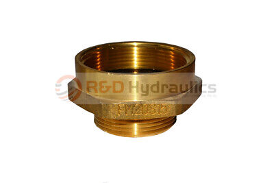 "Fire Hydrant Brass Adapter 2"" FPT x 1-1/2"" NST(M)"