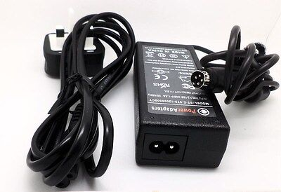 Techwood 16911 LCD TV 4 pin 12v quality power supply charger cable