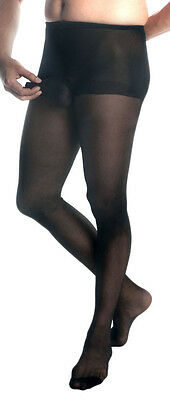 Mens Pantyhose, Mantyhose,  Pantyhose For Men With Sheath. Black Sheer