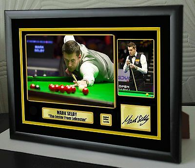 "Mark Selby World No 1 Champion Snooker Framed Canvas Print Signed.""Great Gift"""