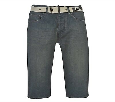 mens jeans.New.Fabric.Classic Belted Shorts Mens.Buttoned.Belt.Size L.Sale.W 36