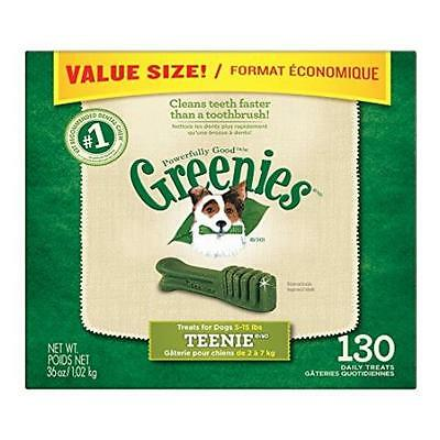 Greenies Dental Chews Teenie Treats For Dogs Value Tub 36 Oz. 130 Count Pet Sup