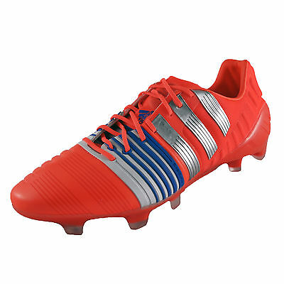 Adidas Nitrocharge 1.0 FG Firm Ground Mens Pro Football Boots Solar Red