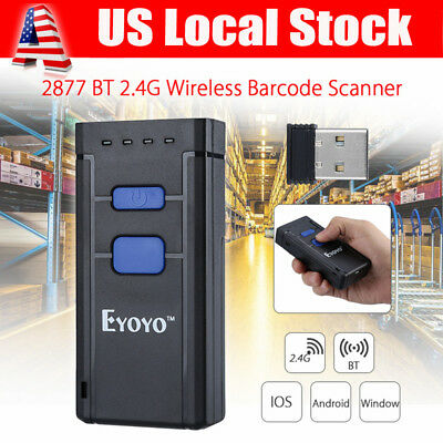 USA Mini Portable Wireless Bluetooth Barcode Laser Scanner for Apple iOS Android