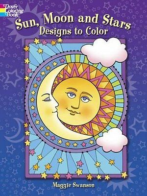 Adult Coloring Books Moon Sun Star Patterns Art Design Painting -Stress Relaxing