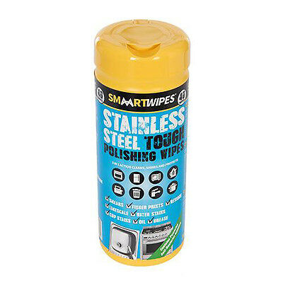 Stainless Steel TOUGH Clean Polish & Protect WIPES For Metal Sufaces PACK OF 40