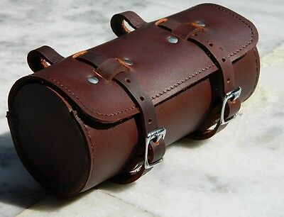 Leather Comfortable Soft Vintage Bicycle Saddle Brown Tool Bag Tail Box New