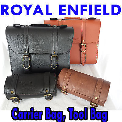 Royal Enfield Bike Leather Saddle Fitting Kit Luggage Carrier Tool Logo Bags