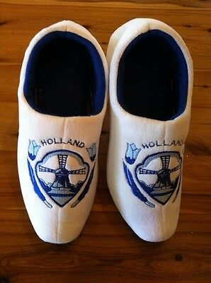 Dutch Clog Slippers / Holland slippers DELFT BLUE TULIP & FREE GIFT WINTER SALE