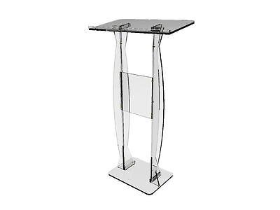 FixtureDisplays Podium Clear Ghost Acrylic Lectern or Pulpit 15410