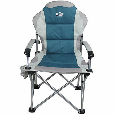 ROYAL COMMANDER CHAIR BLUE ideal for CARAVANNING MOTORHOME CAMPING FISHING
