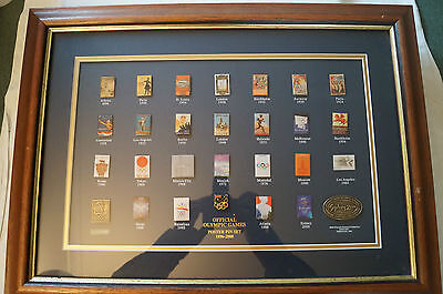 Olympic Games Collectable -Official Poster 28 Pin Set -Olympic Cities -1896-2000