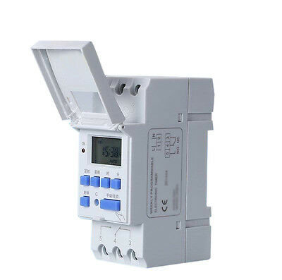 16A Digital LCD Weekly Power Programmable Timer AC 110V Time Relay Switch New