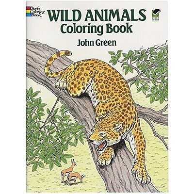 Adult Coloring Book Wild Animals Art Stress Relief Designs Colouring Books