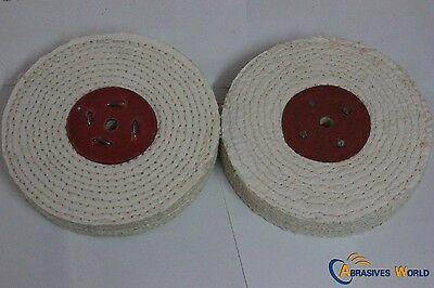"""6"""" 150mm X 12.5mm Sisal Buffing Wheel for polishing metal and stainless steel."""