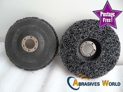 """4 Pcs of 5"""" 125mmx22mm Black Scotch-Brite Paint Stripping and Clean Flap Disc"""