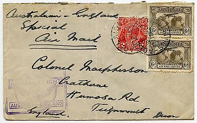 AUSTRALIA 1931 SPECIAL AIRMAIL FLIGHT ADELAIDE to GB