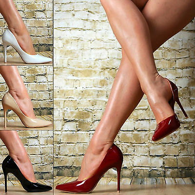 Neu SeXy Luxus Spitze Pumps Damenschuhe LACK Party High Heels Stiletto  Elegante cbf1f530a1
