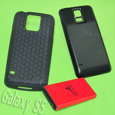 Deep Stretch 8900mAh Extended Battery Thick Cover TPU Case For Samsung Galaxy S5