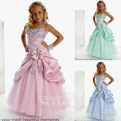 Christening/Princess/Birthday/Bridesmaid/Wedding Dance/Pageant/Flower Girl gown