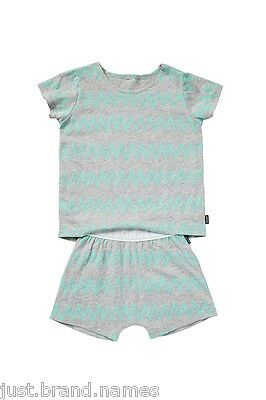 Bonds Boys Girls Children 2 Piece T Shirt PJ Sleepwear Set sizes 3 4 5 6 7 8