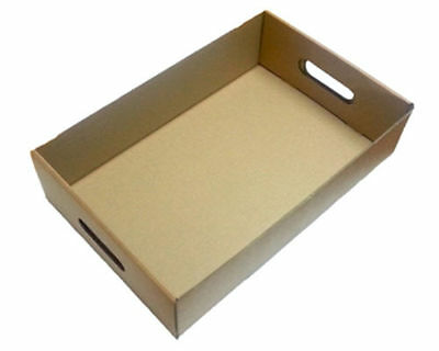 STRONG QUALITY 50 x Die-cut Cardboard Trays Fruits Cans Drinks Boxes Veg Beer