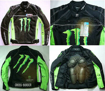 Mens FD-19 Moto Bike Motorcycle Racing Jacket With Protect Gears