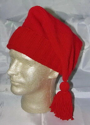 Handmade Knitted Voyager Hat - Bright Red - Rendezvous - Trapper-Reenactor -NEW