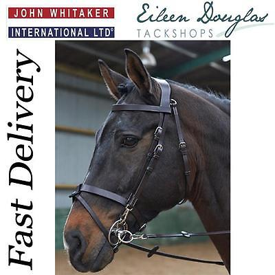 John Whitaker Flash Nose Bridle With Rubber Reins