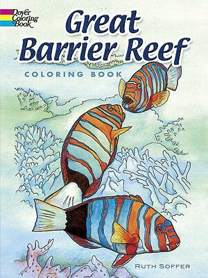 Adult Coloring Books Barrier Reef Patterns Painting Art Design Stress -Relaxing