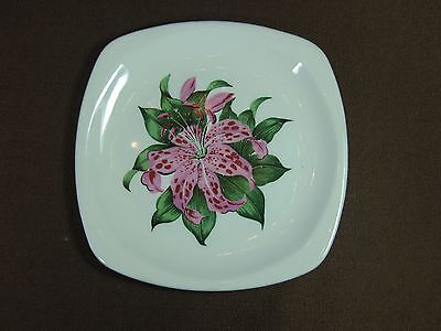 Vintage 1950s Paden City Pottery Tiger Lily Bread & Butter Plate E-50 White